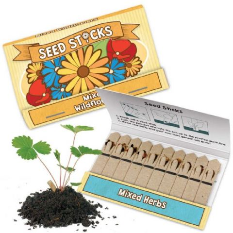 Seed Sticks Tobar Grow Your Own Mixed Herbs & Wild Flowers